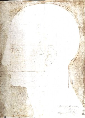 Man's head in profile