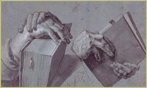 Albrecht Durer - Two Hands Holding A Pair Of Books