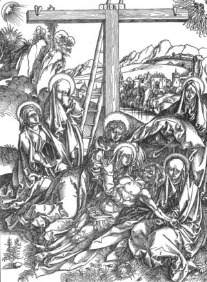 Albrecht Durer - Lamentation for the Dead Christ