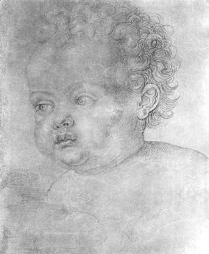 Albrecht Durer - Child's head 2