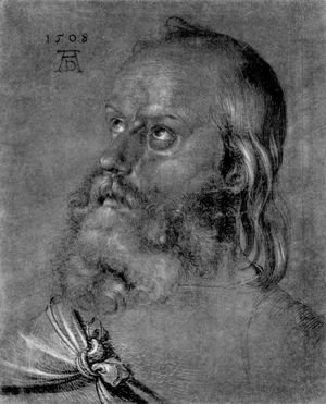 Albrecht Durer - Head of an apostle