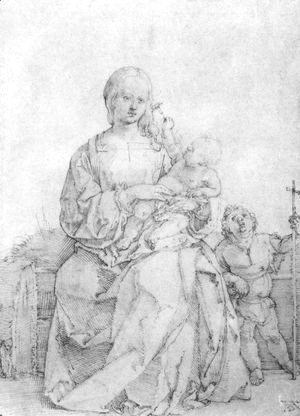 Albrecht Durer - Madonna and Child with John the Baptist