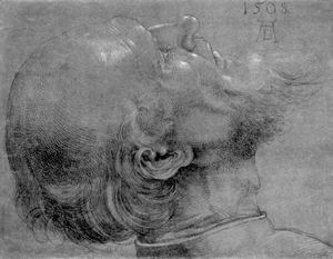 Albrecht Durer - Head of an apostle 2