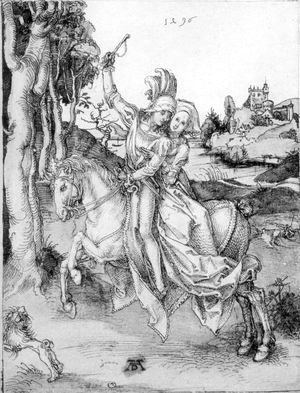 Albrecht Durer - Couple on Horseback