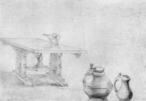 Albrecht Durer - Table and cans