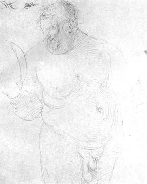 Albrecht Durer - Naked man with mirror