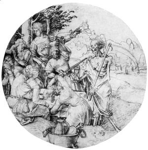 Albrecht Durer - ScheibenriSs Tafelnde society and death