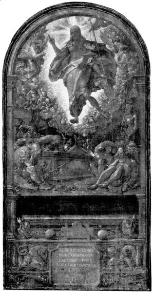 Albrecht Durer - Design for the Fugger Chapel in Augsburg resurrection of Christ