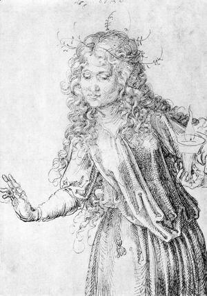 Albrecht Durer - One of the wise virgins