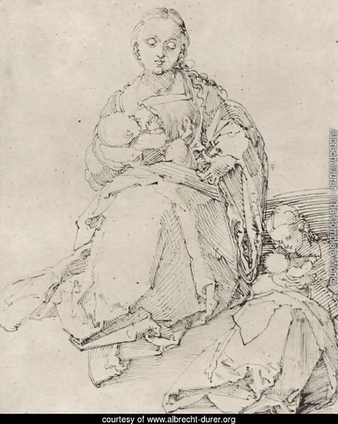 Study sheet with Mary and Child