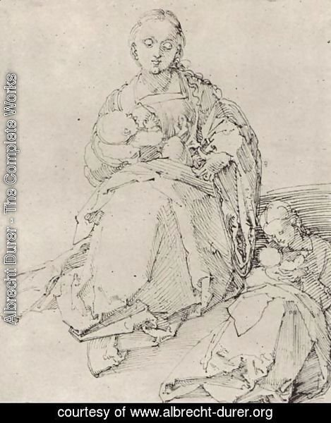 Albrecht Durer - Study sheet with Mary and Child