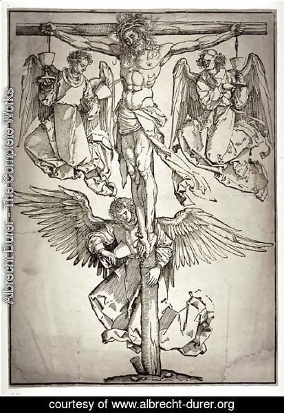 Albrecht Durer - Christ on the Cross with Three Angels 2