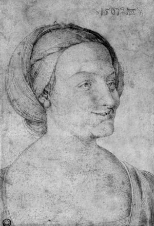 Albrecht Durer - Head of a smiling woman