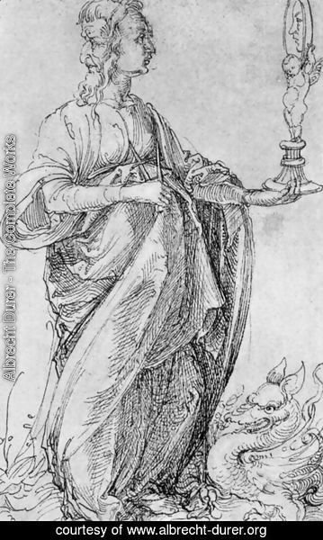 Albrecht Durer - Drawing from the Tarot  Prudence