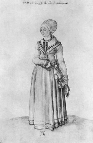 Nuremberg woman in house dress