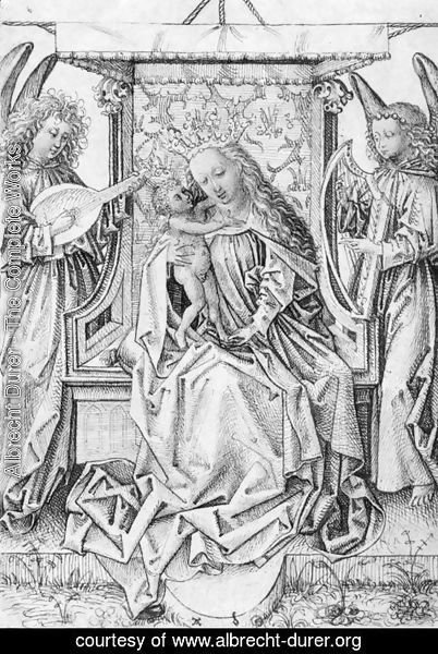 Albrecht Durer - Madonna and Child with musical angels