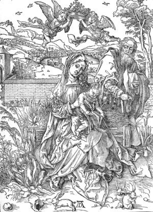 Albrecht Durer - Holy Family with three Hares 2