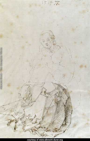Sitting Mary with child