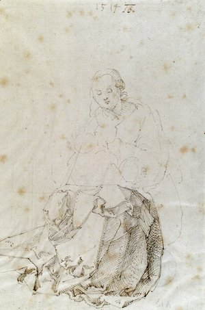 Albrecht Durer - Sitting Mary with child