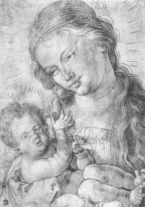 Albrecht Durer - Madonna and child in half length