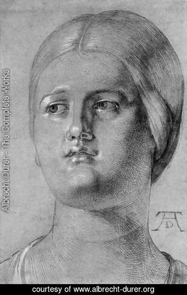 Albrecht Durer - Head of a Woman 3
