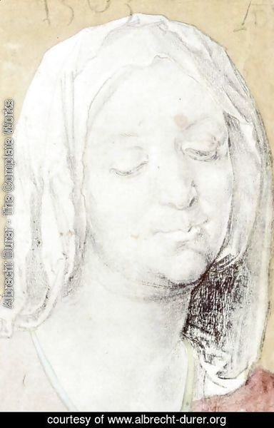 Albrecht Durer - Head of Mary 2