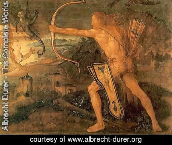 Albrecht Durer - Hercules kills the Symphalic Bird