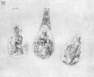 Albrecht Durer - Ornaments for three spoons stalks