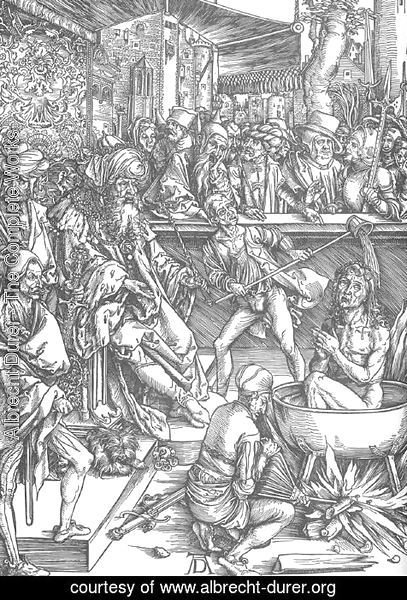 Albrecht Durer - The Martyrdom of St John the Evangelist