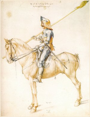 Albrecht Durer - Knight On Horseback 2