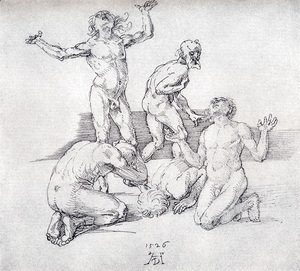 Albrecht Durer - Five Male Nudes