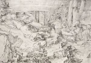 Albrecht Durer - Christ On The Mount Of Olives 1521