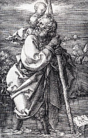 Albrecht Durer - St  Christopher Facing To The Left