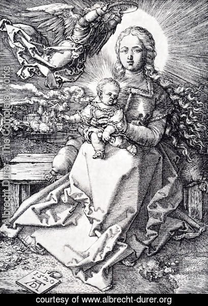 Albrecht Durer - Madonna Crowned By An Angel