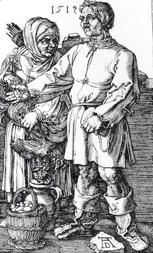 Albrecht Durer - The Peasant And His Wife At Market