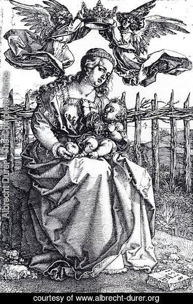 Albrecht Durer - Madonna Crowned By Two Angels
