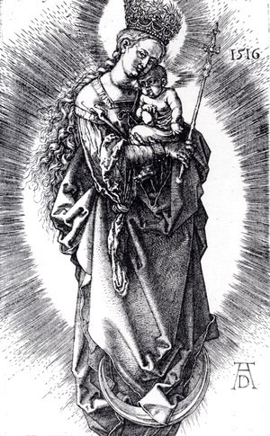 Albrecht Durer - The Virgin On A Crescent With A Crown Of Stars And A Scepter