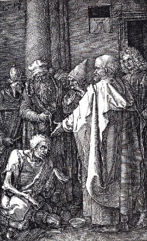 Albrecht Durer - St  Peter And St  John Healing The Cripple