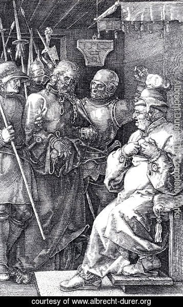 Albrecht Durer - Christ Before Caiaphas (Engraved Passion)