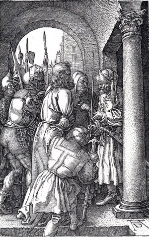 Albrecht Durer - Christ Before Pilate (Engraved Passion)