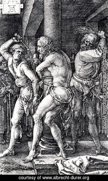 Albrecht Durer - Flagellation (Engraved Passion)