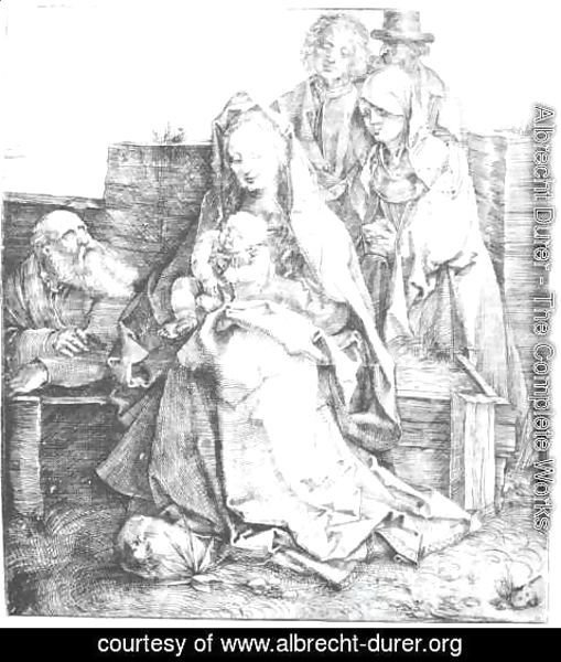 Albrecht Durer - The Holy Family With St  John  The Magdalen And Nicodemus