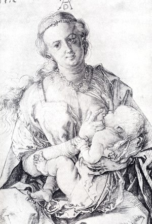 Albrecht Durer - The Virgin Nursing The Child