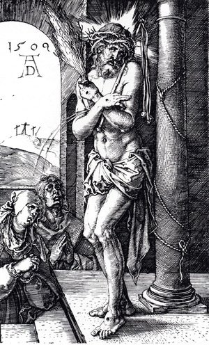 Albrecht Durer - Man Of Sorrows By The Column (Engraved Passion)