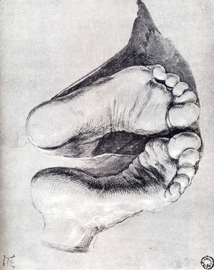 Albrecht Durer - Feet Of A Kneeling Man
