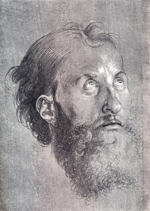 Albrecht Durer - Head Of An Apostle Looking Upward