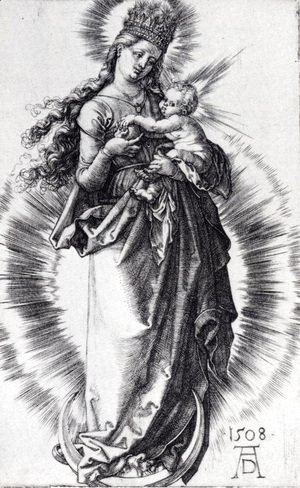 Albrecht Durer - The Virgin On The Crescent With A Crown Of Stars (Second State)