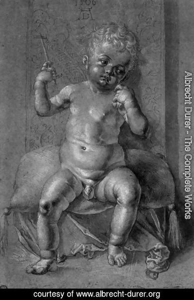 Albrecht Durer - Seated Nude Child