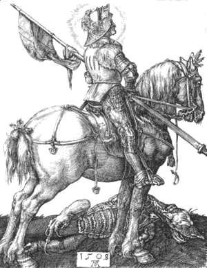 Albrecht Durer - St  George On Horseback