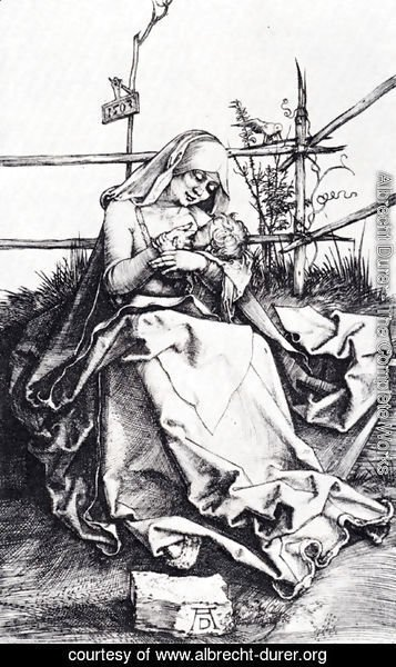 Albrecht Durer - Madonna On A Grassy Bench